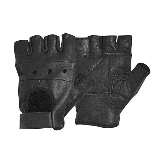 2PCS Synthetic Leather Black Driving Motorcycle/Bicycle Fingerless Gloves Men Women Gloves Fashion Sale Half Finger Gloves