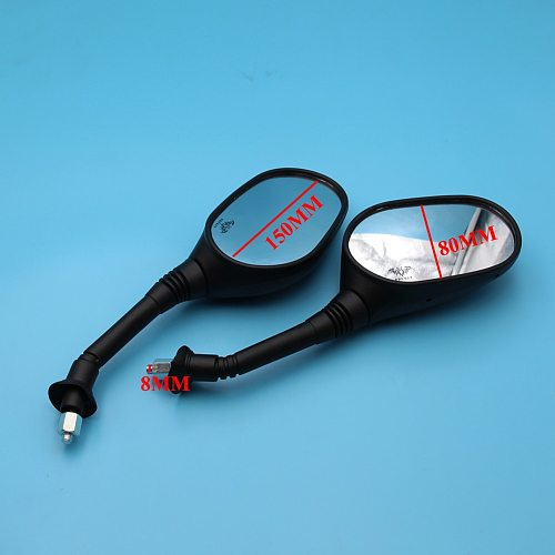 8mm Rearview Mirrors for Gy6 50cc 125cc 150cc 250cc Taotao Jonway Moped Scooter Motorcycle Motorbikes ATV Quad PRO BAT New