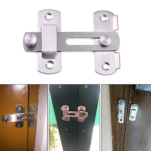 180 Degree Hasp Latch Stainless Steel Hasp Latch Sliding Door lock for Window Cabinet Fitting Room Accessorries Home Hardware