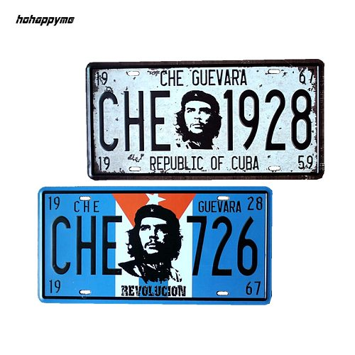 15x30 CM License Plates CHE GUEVARA 1928 Antique Bar Signs Mural Decorative Metal Plate Vintage Plaque