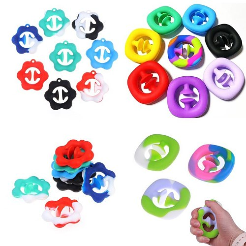 1PC Unzip Grip Ring Sensory Toy Autism Stress Reliever Adult Antistresse Toy