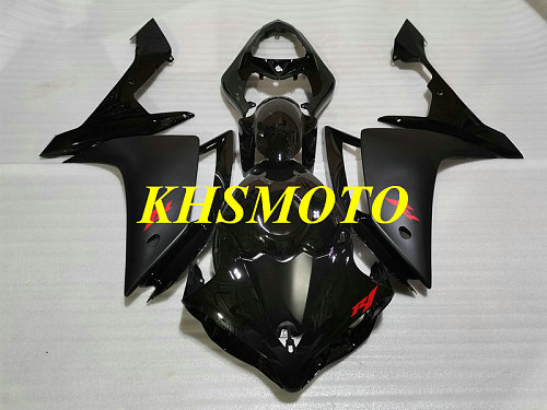 Full tank cover Injection mold Fairing Kit for YZFR1 07 08 YZF R1 2007 2008 YZF1000 ABS Black Fairings set+gifts YS18