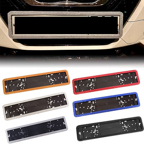 New Stainless Steel Crystal Diamonds European German Russian Car License Plate Frame Number License Plate Frame Holder car plate