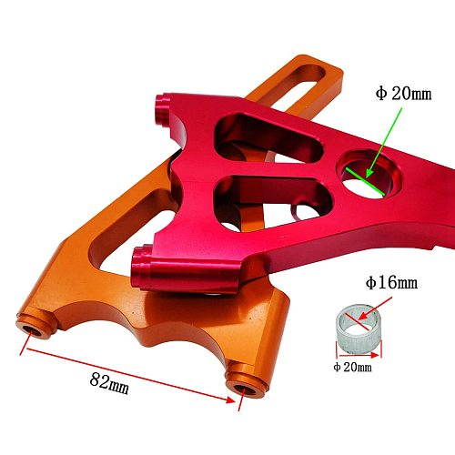 Motorcycle brake calipers Hole distance 82mm Brackets four piston brake calipers pump adapters For Brake disc 220mm Modified