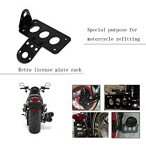 Universal Motorcycle Accessories 1pcs Motorcycle Side Mounted Tail Light Frame License Plate Bracket Retro Metal