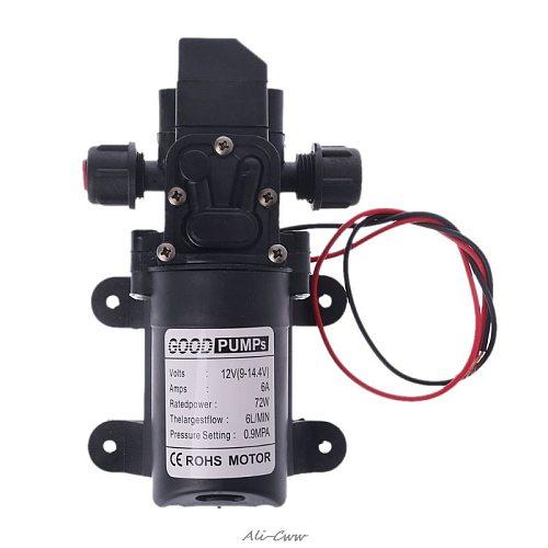 Intelligent Valve DC 12V 130PSI 6L/Min Water High Pressure Diaphragm Self Priming Pump 70W Hot