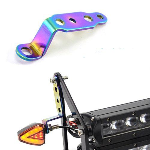 Multi Function Neo Motorcycle Headlight Rearview Mirror Spotlight Mount Bracket 6MM 8MM Head Lamp Holder Motor Accessories
