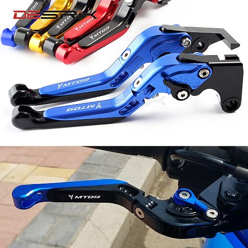 For YAMAHA MT-09 2014-2019 CNC Motorcycle Accessories Adjustable Folding Brake Clutch Lever MT09 MT 09 FZ09 2015 2016 2017-2019