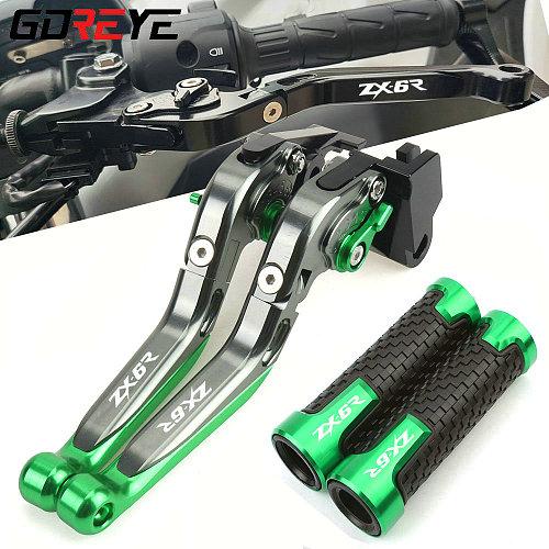 For Kawasaki Ninja ZX-6R 2007 2008 2009 2010-2016 ZX6R ZX 6R 6 R Motorcycle Brake Clutch Levers Handlebar grip Handle Hand Grips