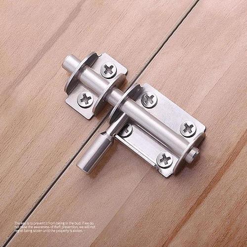 1Pc Slide Bolt Gate Latch Heavy Duty Safety Latch Bolt Bolts Door Gate Door Latch Barrel Steel Lock Window I3V8