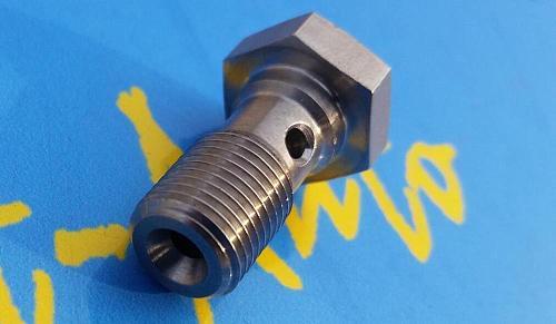 Stainless Steel M10 P1.25 M10*1.25 20mm long banjo bolt for ptfe tpfe brake hose end Fitting for rb26det drift engine