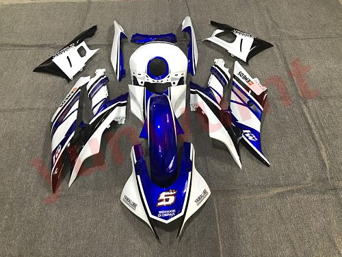 New ABS Motorcycle Injection Full Fairings Kit Fit For Yamaha YZF R3 2019 2020 YZF R25 19 20 R3 Bodywork fairing set blue white