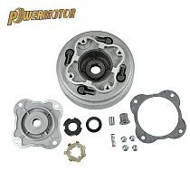 Motorcycle 52.4mm Bore Complete Manual Clutch Assembly kit for Lifan 125cc Start in neutral Horizontal Kick Starter Engines Pirt