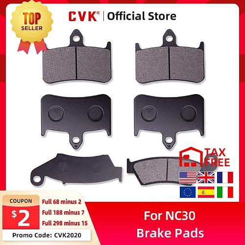 CVK  1 Set  High Quality Brake Pads Disks Shoes Front And Rear FOR Honda VFR750 VFR400 RVF400 VFR RVF 40 NC30 NC35 Parts
