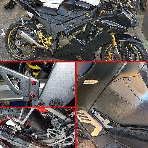 Universal Motorcycle Full Fairing Screws Kit Body moto cover Bolts Nuts FOR kawasaki zx6r 2006 ducati 1098  suzuki gsxr 1000 k8