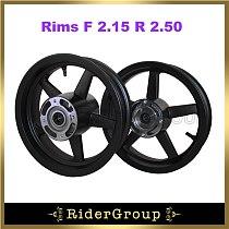 Black Rims F 2.15 R 2.50 For Pit Bike Motard 12  Supermoto Mini GP Wheel Parts