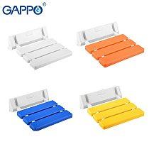 GAPPO Wall Mounted Shower Seats bathroom white shower folding seat bath chair elderly shower spa bench stool