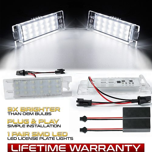 2Pcs LED Number License Plate Light Lamps For Opel Astra K J H Corsa D E C Meriva A B Vectra C Zafira B Insignia Adam or Vauxhal