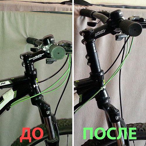 12CM Bicycle Handlebar Extender Fork Stem Rise Up Extension Heads Up Black Bike Fork Extender MTB Mountain Cycling Bike Part