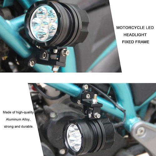 Hot 2PCS 22mm Universal Handlebar Mount Motorcycle Headlight Bracket Spotlight Holder Tube Clampn Motorcycle Accessories New