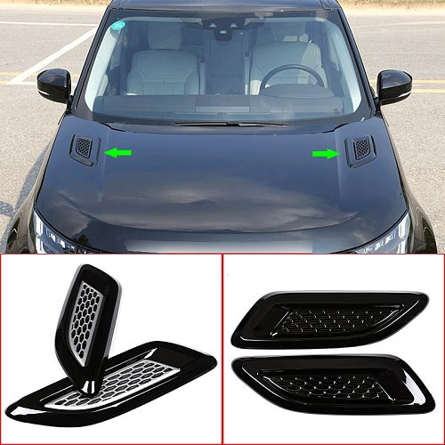 For Land Rover Discovery 5 LR5 L462 2017-2020,ABS Plastic Car Hood Air Vent Outlet Wing Decorative Cover Trim Exterior Accessory