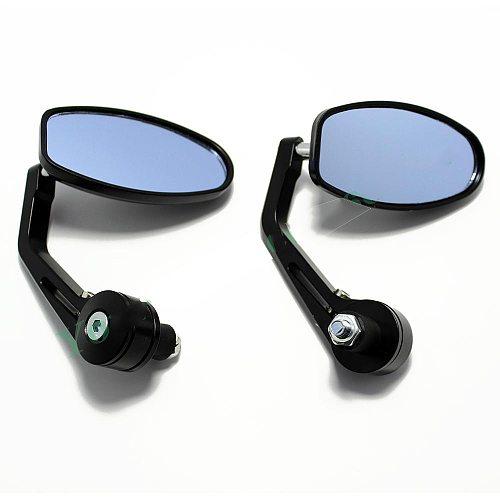 evomosa Black 7/8  Handlebar End Mirrors Oval Custom Classic Side Mirrors Chopper Bobber Cafe Racer ATV Quad Rearview Mirrors