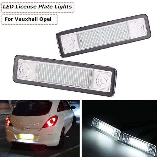 2pcs 24 LED Car Number Licence Plate Light Lamp For Vauxhall Opel Astra G Vectra B Tigra Zafira A