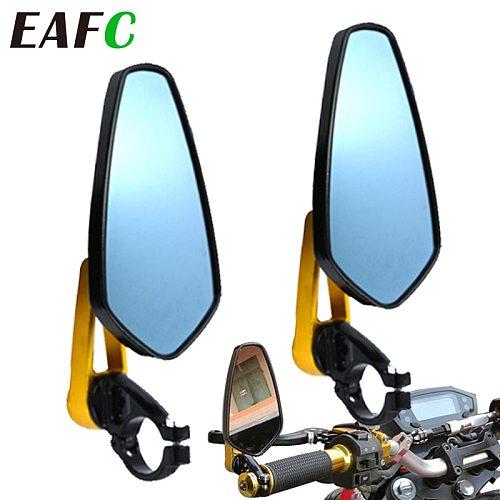 2Pcs Motorcycle Aluminum 7/8  22mm Bar End Side Rearview Mirror Universal Motorbike Bike Handlebar Rear View Mirrors Universal