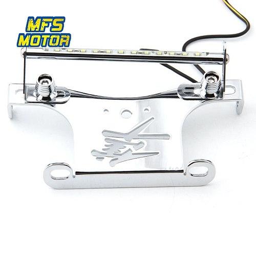 LED Lights Number License Plate Holder Bracket For 08-15 GSXR1300 GSXR 1300 GSX 1300R Hayabusa Fender Eliminator Motorcycle Part