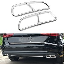 Yubao 2PCS/Set Stainless steel For Audi A6 A7 C7 2016-2018 Car Rear Exhaust Tail Pipe Cover Trim Muffler High Quality