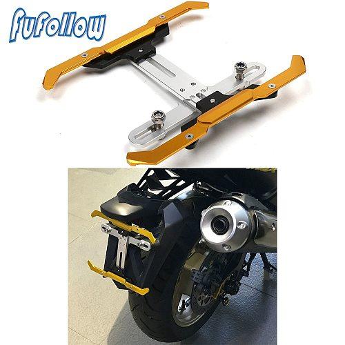 Universal Motorcycle Scooter Adjustable License Plate Bracket Holder Frame Number For Honda Suzuki Yamaha Kawasaki KTM Ducati
