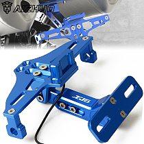 Motorcycle Adjustable License Number Plate Frame Holder Bracket FOR YAMAHA XJ6 DIVERSION 2009-2015 2010 2011 2012 2013 2014