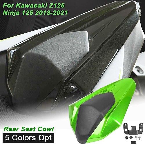 Motorcycle Accessories Rear Passenger Pillion Solo Seat Cover Cowl Fairing Black For Kawasaki Ninja 125 Z125 2018 2019 2020 2021