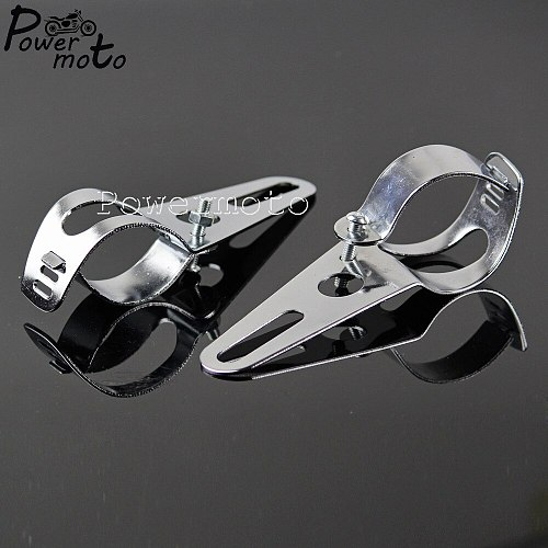 Motorcycle 35-54mm Fork Ear Tube Bracket Adjustable Headlamp Fairing Headlight Mount Bracket Holder For Harley Honda Yamaha