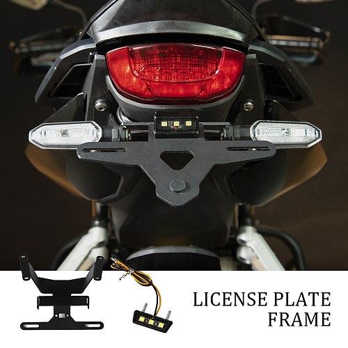 Stainless Steel Motorcycle License Plate Holder Tail Light Bracket Tidy Fender Eliminator For Honda CBR650R Cb650r 2018-2020