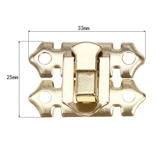 10Pcs Box Latch Clasps Decorative Chest Jewelry Gift Wine Wooden Box Case Hasp Latch Lock 40Pcs Screw