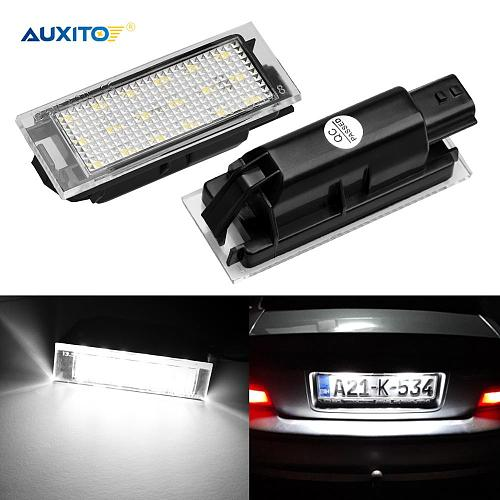 Car LED License Plate Light For Renault Megane 2 Clio Laguna 2 Megane 3 Twingo Master Vel Satis Accessories Canbus No Error Lamp