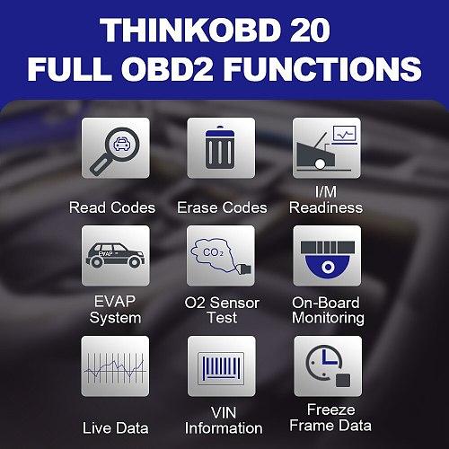 THINKCAR THINKOBD 20 OBD 2 Scanner Professional Car Auto Diagnostic Tool Automotivo Code Reader Check Engine Light DTC Lookup