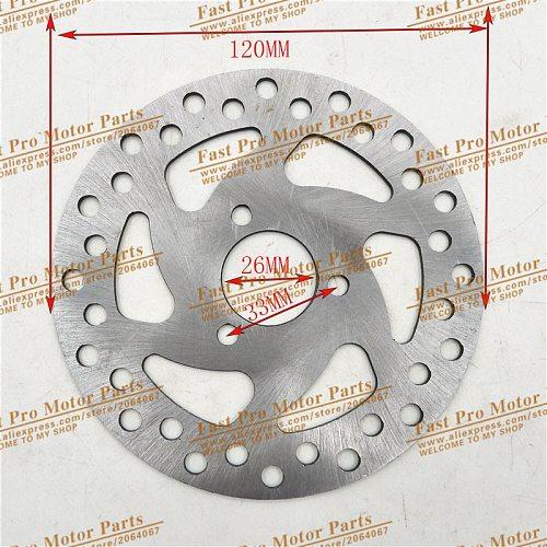Gas Electric Scooter Brake Disc 140mm/120MM For 47cc 49cc 2 Stroke Pocket Bike Mini Dirt Bike ATV Quad Mini Motorcycle