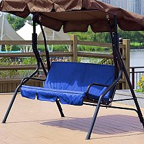 Outdoor Swing Cushion 3 Seater Swing Chair Cover Waterproof Swing Seat Pad Multicolor Garden Chair Bench Couch Sofa Cover Cloth