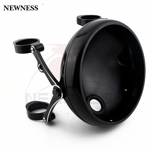 Motorcycle 7  Headlight Bracket Clamp 39mm-41mm CNC Fork Tube Holder Shell Bucket For Harley Chopper Bobber Cafe Racer
