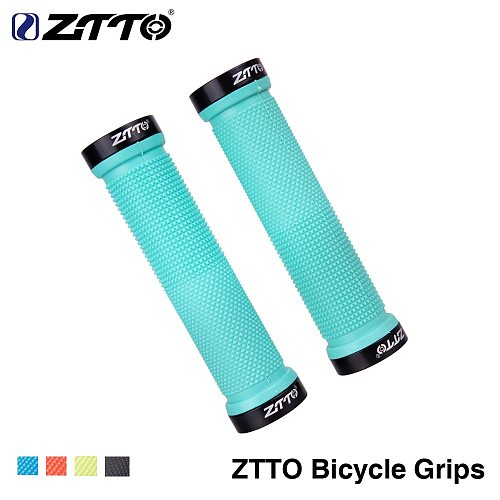 ZTTO Bicycle MTB Cycling Lockable Grips Anti Slip Rubber 22.2mm Universal Bike Handlebar Components Blue Red Black AG-16 1Pair