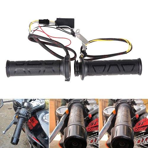 12V Motorcycle Electric Handlebar Heating Grips Universal Motor Hot Handle Grip Moto bike Electric Hand Heated Grips