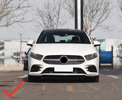 Car Accessories 3pcs Stainless Steel Front Bumper Molding Strips Cover Trim for Mercedes-Benz A Class AMG Line 2019 2020