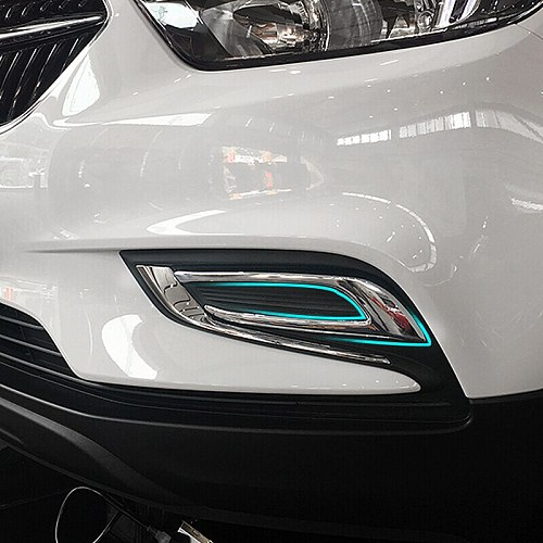 ABS Plastic Fit For Buick Encore 2016 2017 2018 Car front fog lamp frame Decoration cover trim car accessories styling