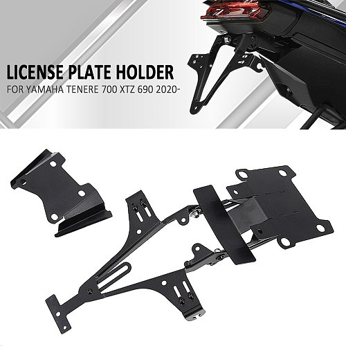 Motorcycle License Number Plate Holder For Yamaha Tenere 700 2020 2021