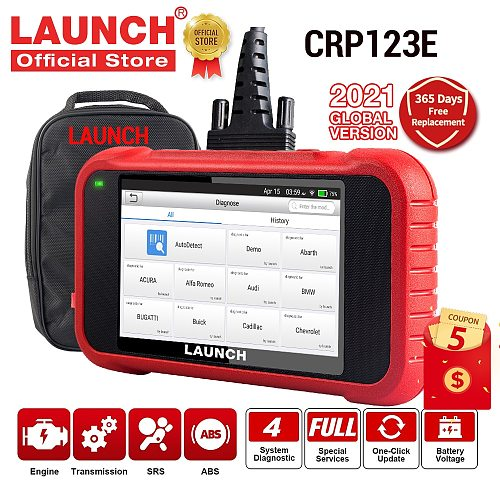 LAUNCH X431 CRP123E OBD2 Car Scanner OBD OBDII Engine ABS Airbag SRS Transmission Automotive diagnostic Tools free update CRP123