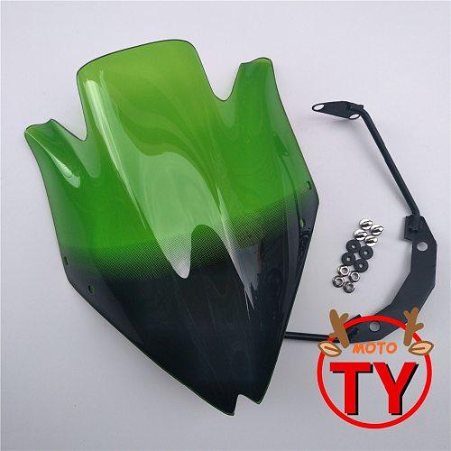 Motorbike Windshield Windscreen w/Bracket High Quality Smoke Clear For Kawasaki Z750 Z750R Z 750 2007-2008-2009-2010-2011-2012