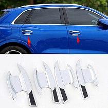 Fits For Audi Q3 2019-2021 New Car ABS Chrome Door Handle Bowl Trim Cover Trim Decor Moulding Styling Accessories 4PCS