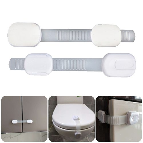 1/6/12Pcs Baby Locks Flexible Strap Child Safety Locks Self-Adhesive Door Latches For Cabinet Drawer Toilet Seat Fridge Oven